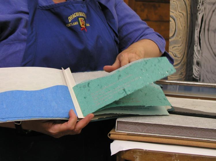 Ann showing book 3
