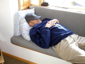 Lee resting