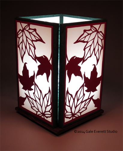 Maple Leaf Lamp, Gale Everett Studio
