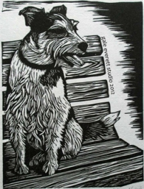 """Benched"", block print, gale everett studio, 2012"