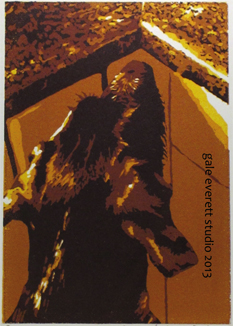 Title: Counter Surfer, reduction screen print, gale everett studio, 2013