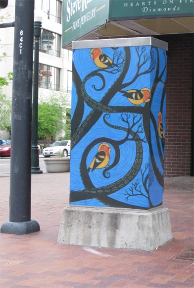 street art birds