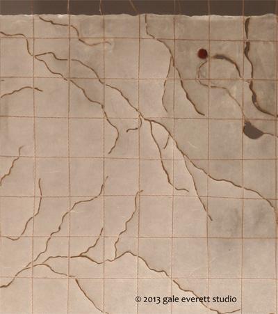 detail of Rivers II, gale everett 2013
