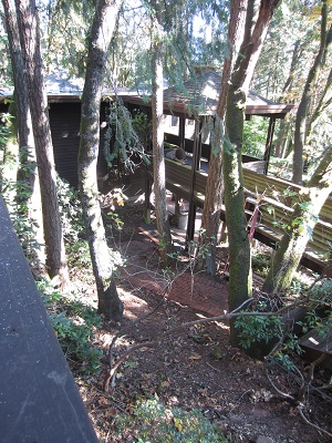 front entry deck from above