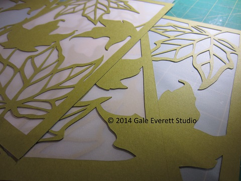 Gale Everett Studio- green leaf in progress