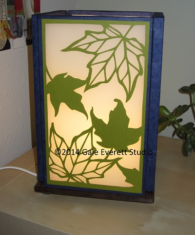 Green Maple leaf Luminaria