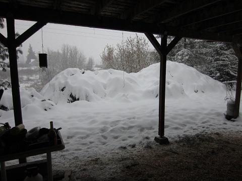 deck view snow