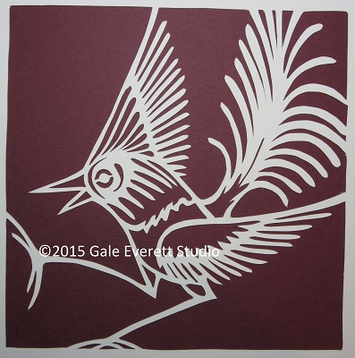 GaleEverett Studio_paper bird 2_2015