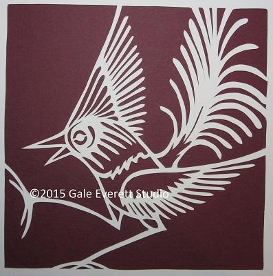 GaleEverett Studio_paper bird 2_2015