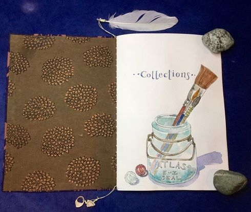 Opening page of the Collections Book by Cathe Jacobi.
