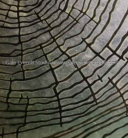 cropped image of the tree rings after waxing