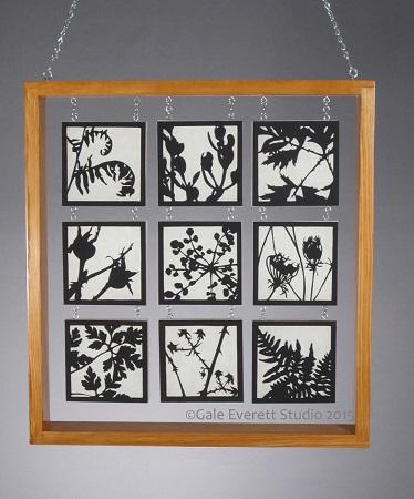Stroll in the Woods, Gale Everett, hand cut paper, hemlock, spruce, metal