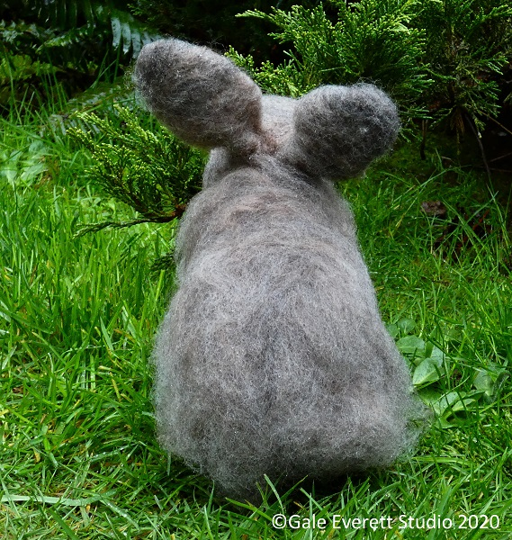 Felted Angora Rabbit: back view